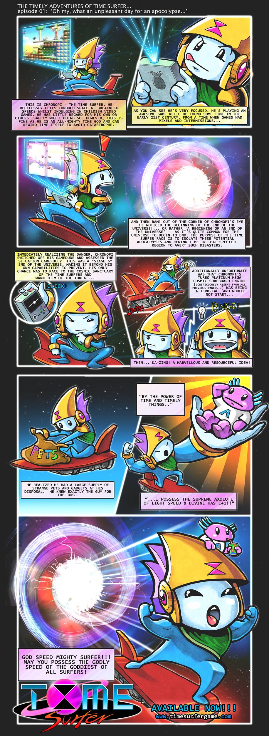Time Surfer Comic